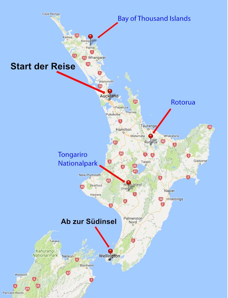 Neuseeland Nordinsel Karte.Reise Nach Neuseeland Wandern Reisen Mehr