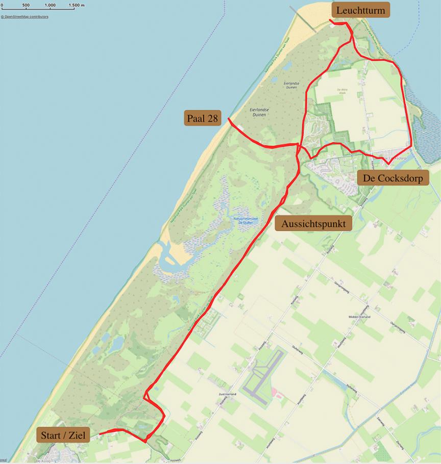 Karte Texel.5 Tips Für 1 Woche Texel Wandern Reisen Mehr